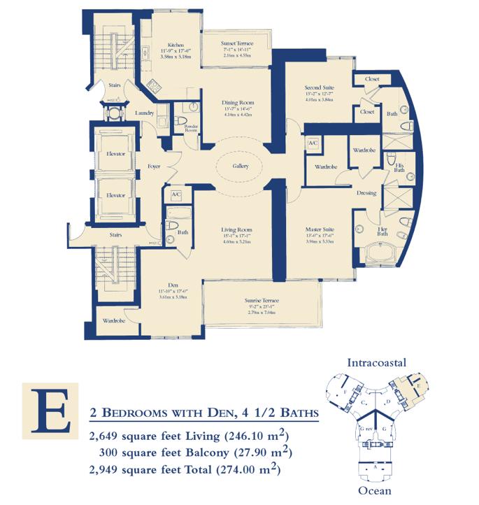 Ocean Three - Floorplan 1
