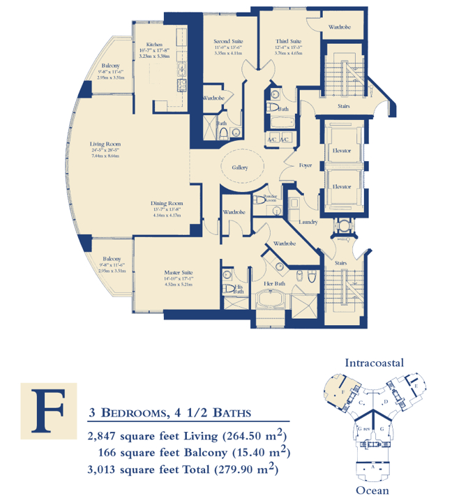 Ocean Three - Floorplan 4