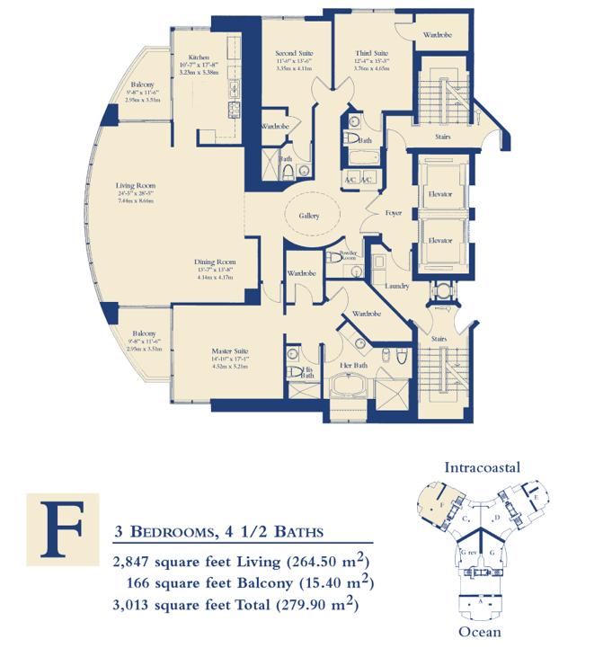 Ocean Three - Floorplan 4