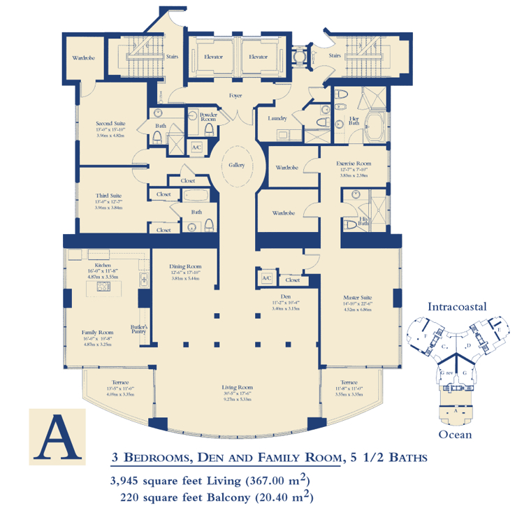 Ocean Three - Floorplan 6