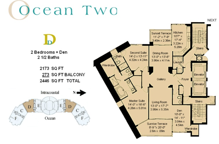 Ocean Two - Floorplan 1