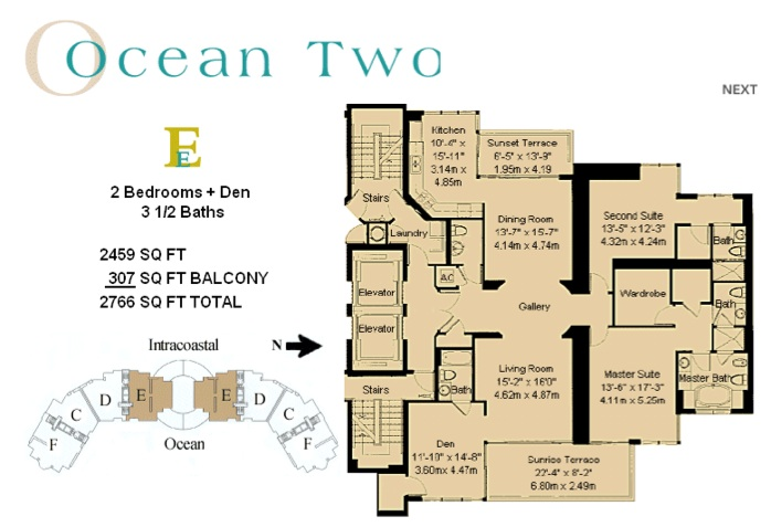 Ocean Two - Floorplan 2