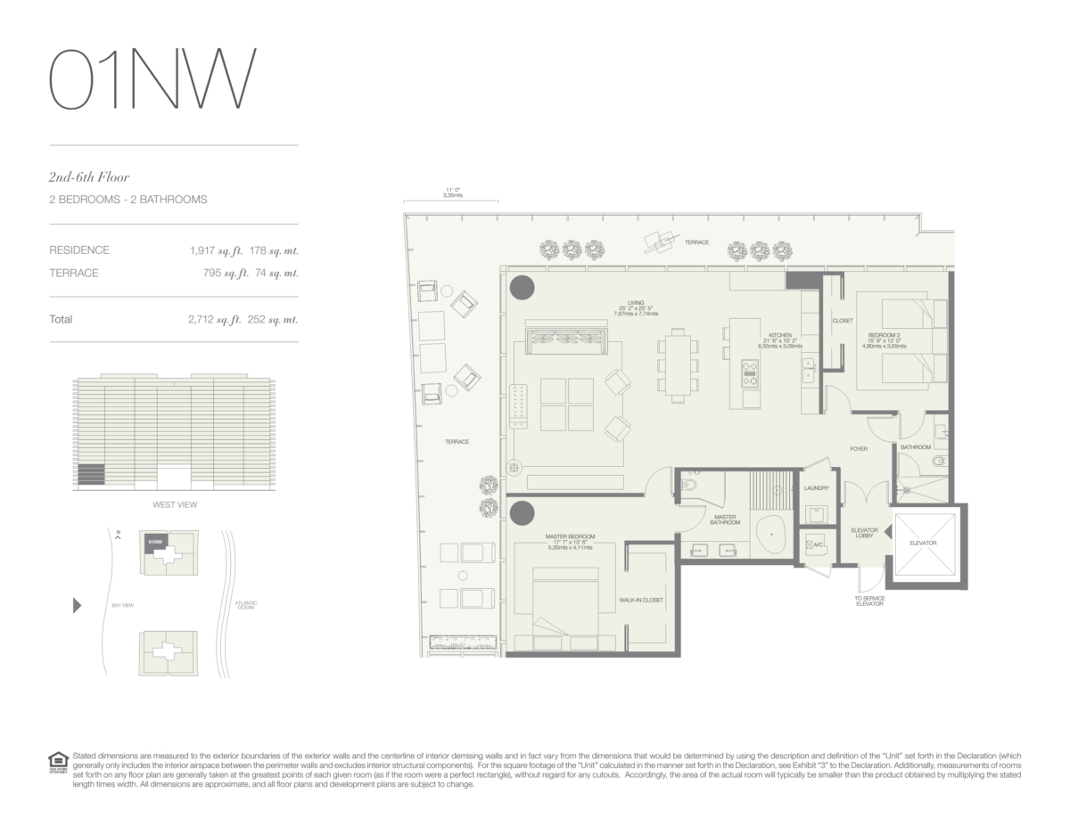 Oceana Bal Harbour - Floorplan 1