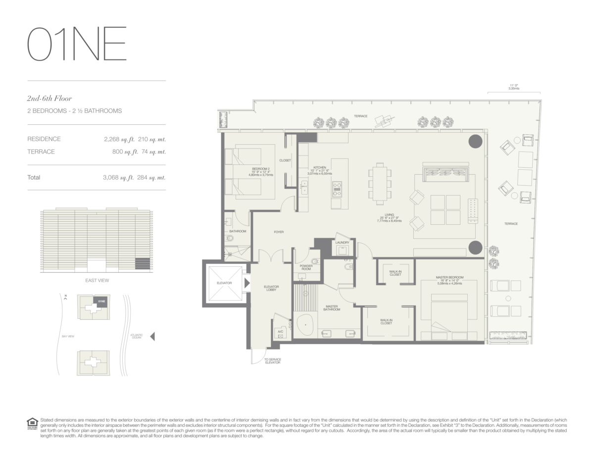 Oceana Bal Harbour - Floorplan 2