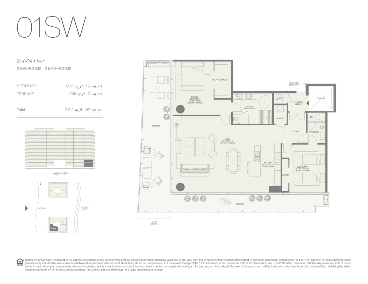 Oceana Bal Harbour - Floorplan 3