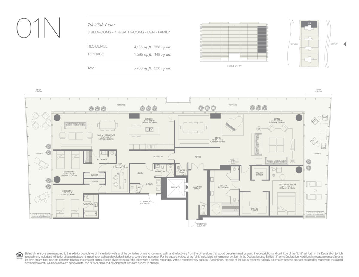 Oceana Bal Harbour - Floorplan 9