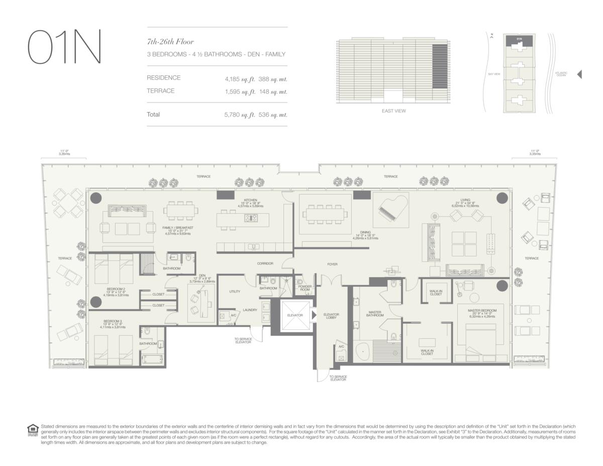 Oceana Bal Harbour - Floorplan 9