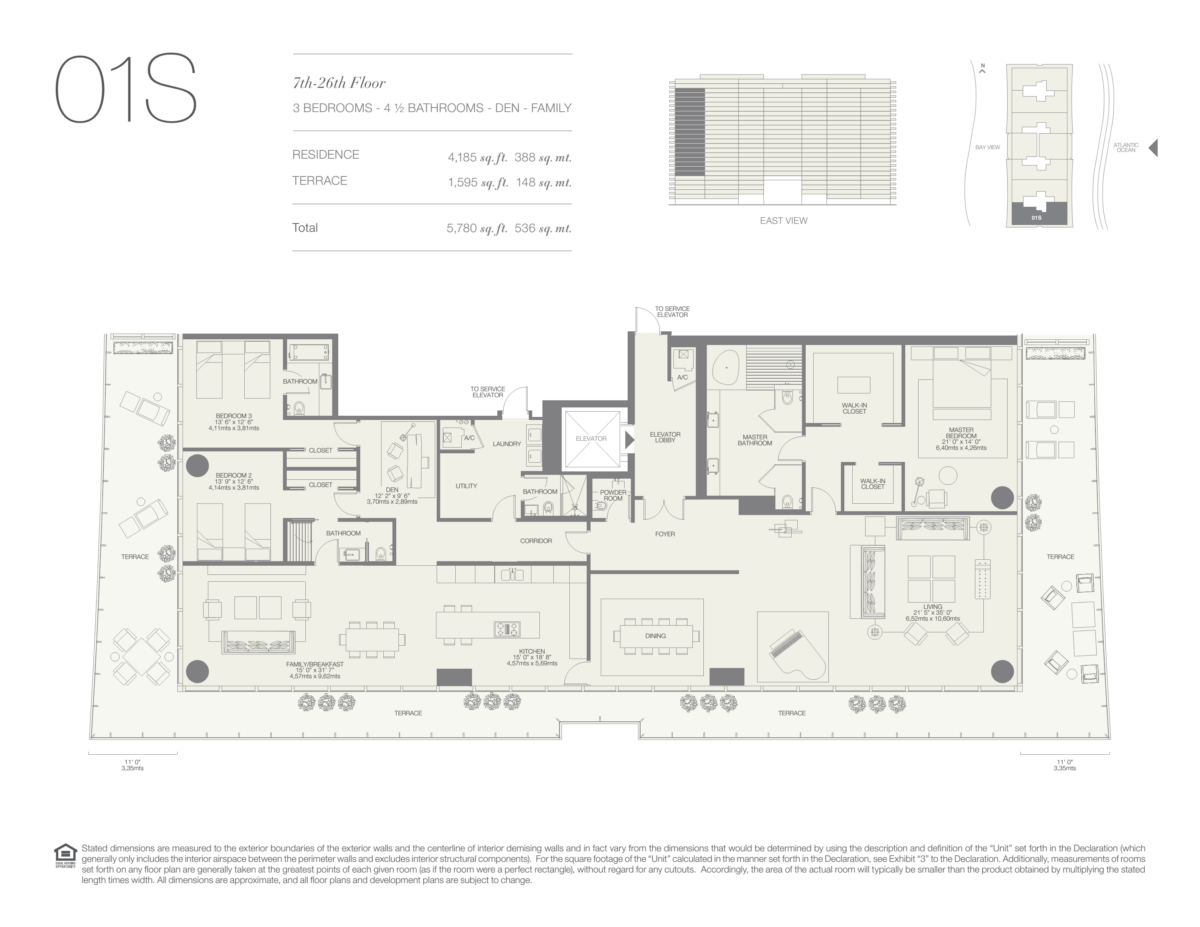 Oceana Bal Harbour - Floorplan 11