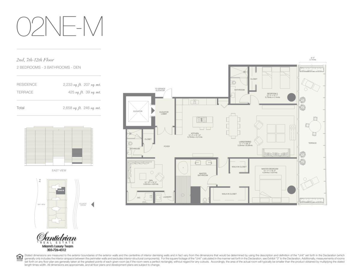 Oceana Bal Harbour - Floorplan 12