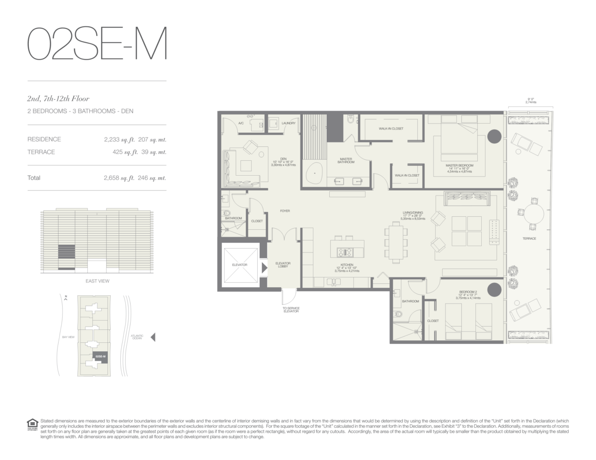 Oceana Bal Harbour - Floorplan 14