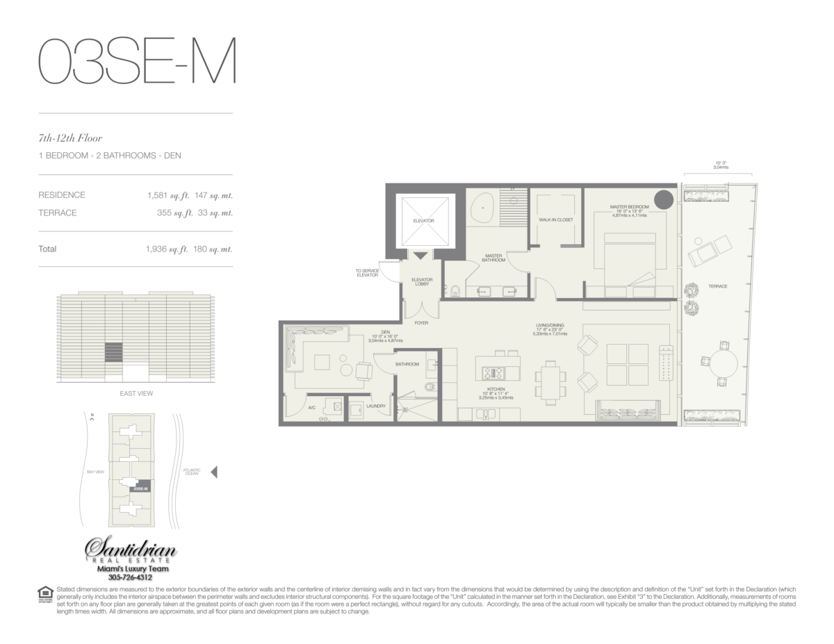 Oceana Bal Harbour - Floorplan 15