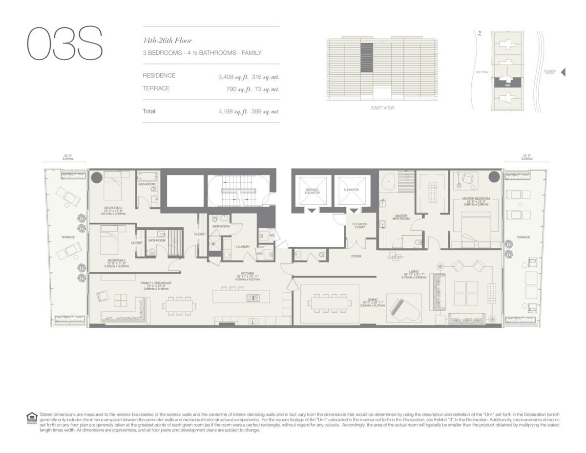Oceana Bal Harbour - Floorplan 21