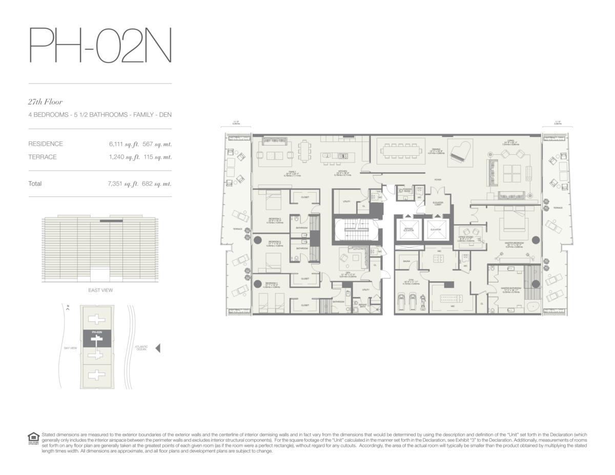 Oceana Bal Harbour - Floorplan 22