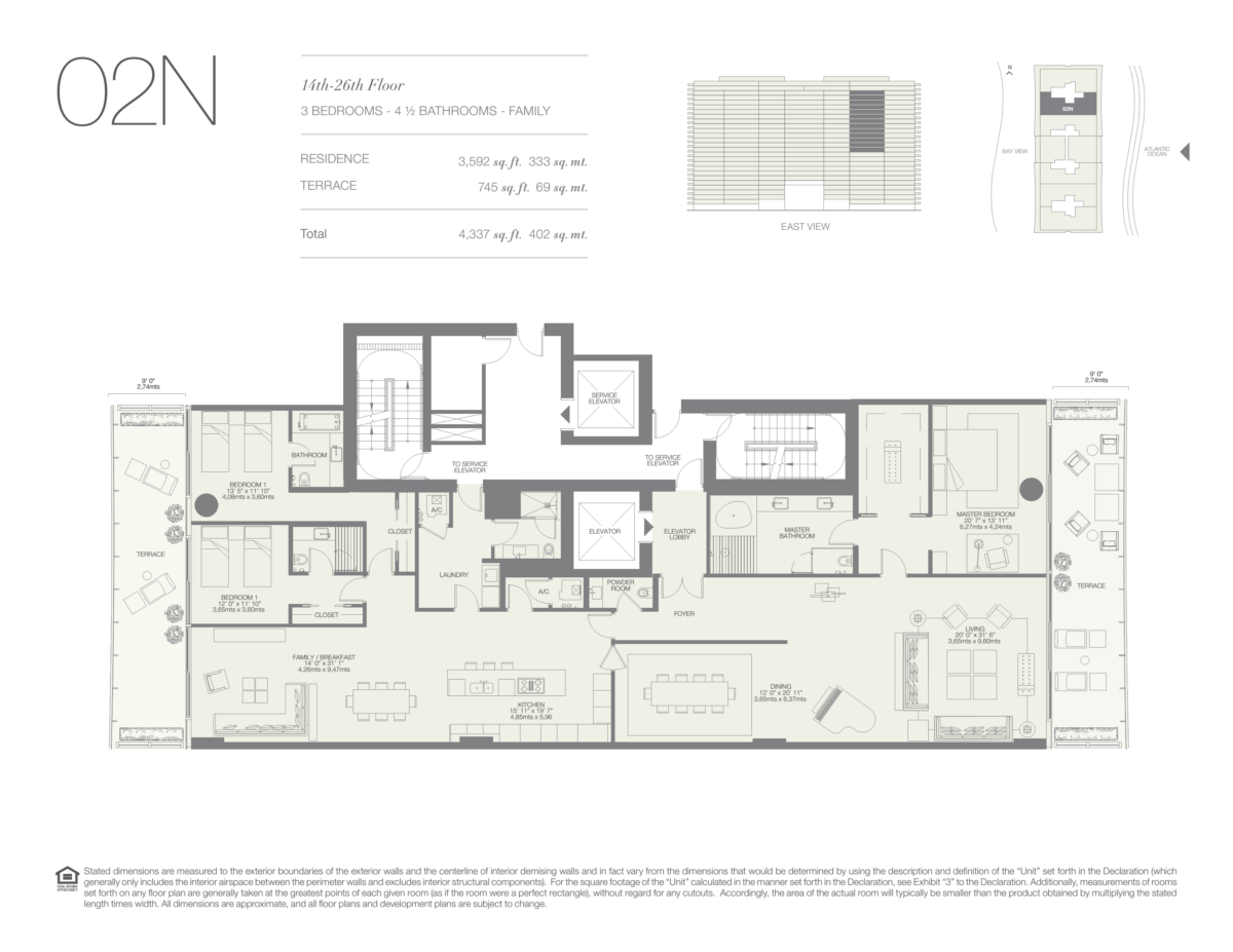 Oceana Bal Harbour - Floorplan 24