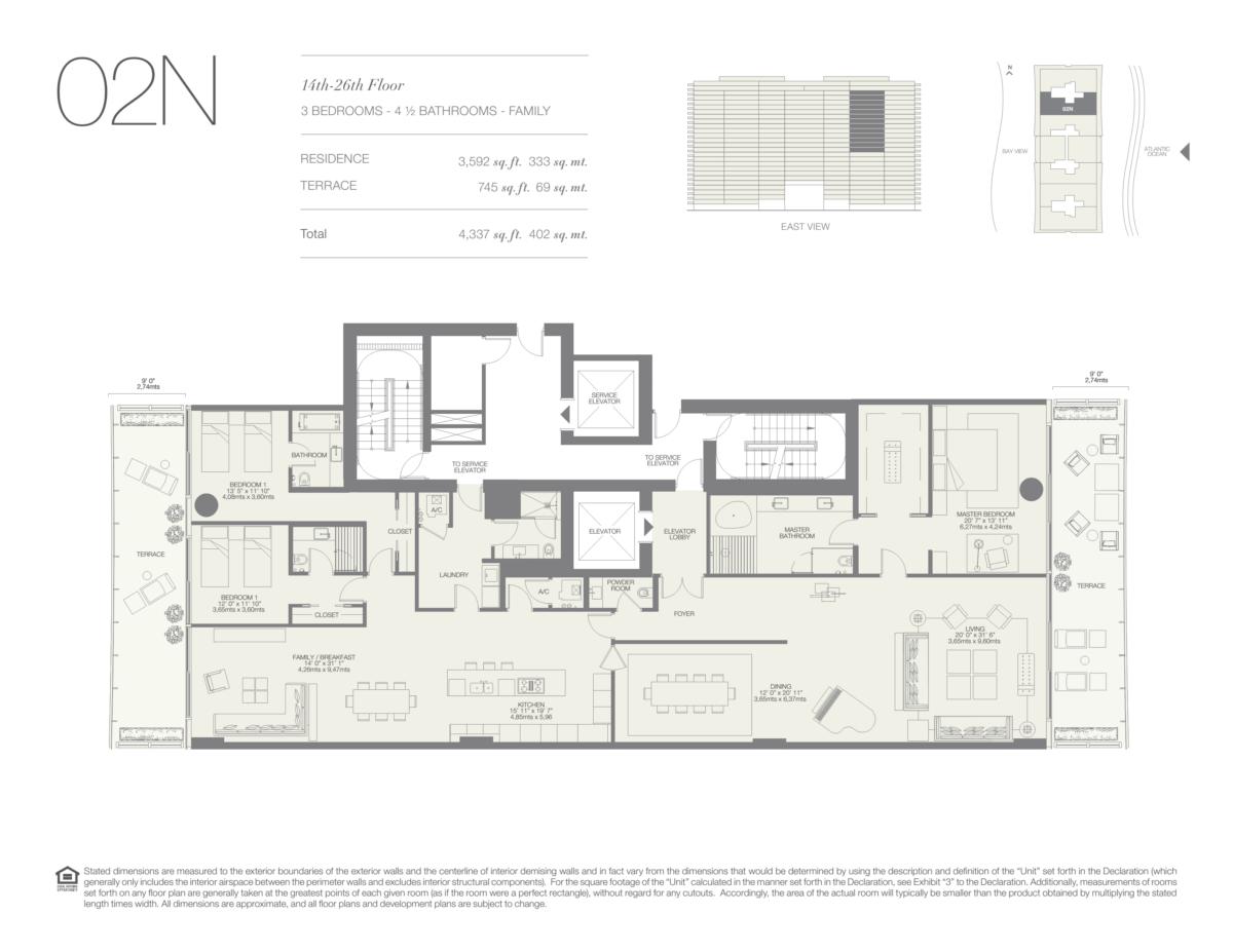 Oceana Bal Harbour - Floorplan 24