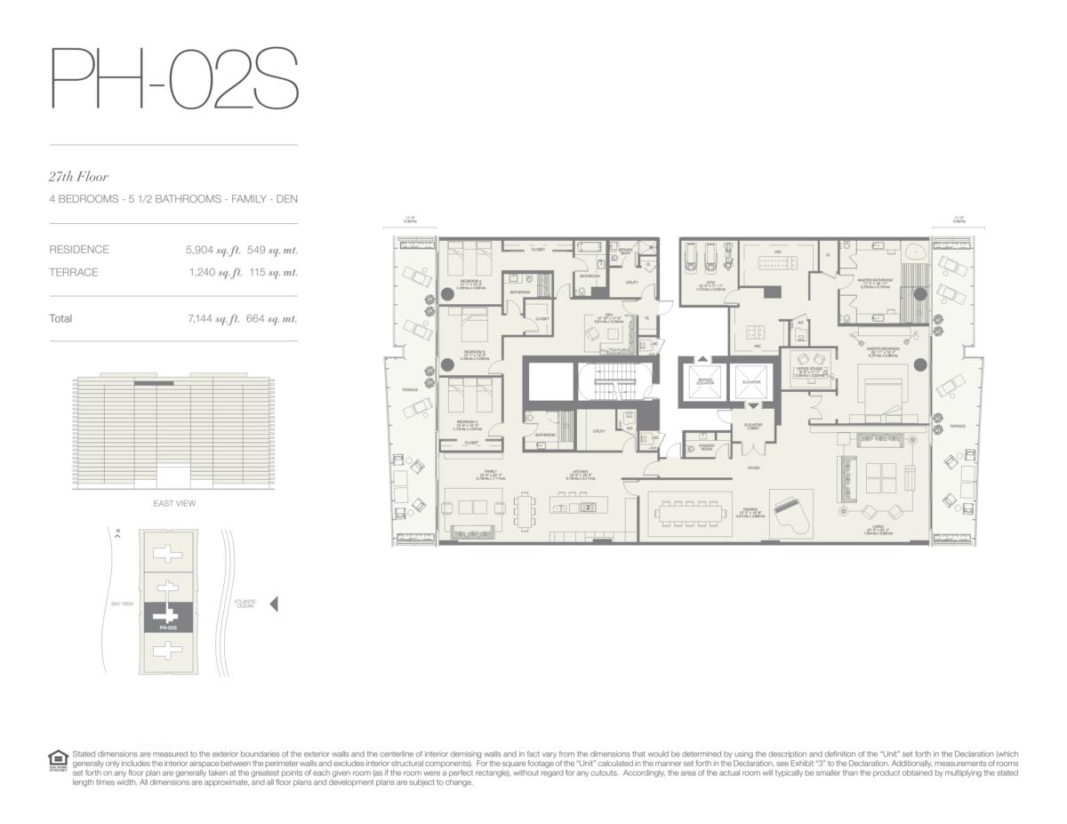 Oceana Bal Harbour - Floorplan 25