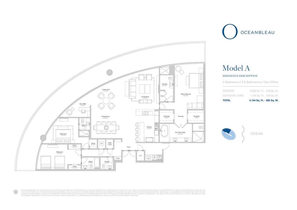 Oceanbleau - Floorplan 1