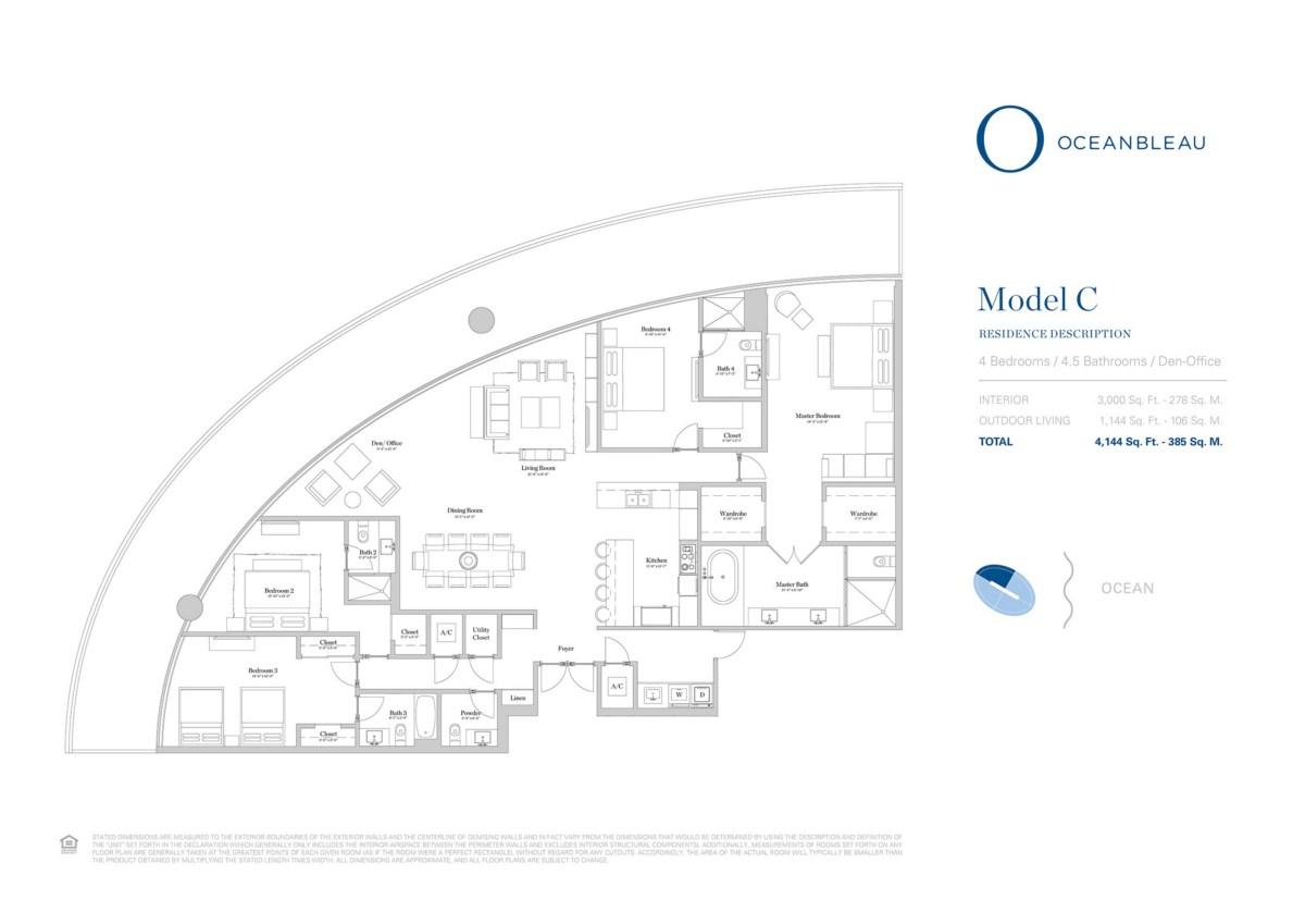 Oceanbleau - Floorplan 2