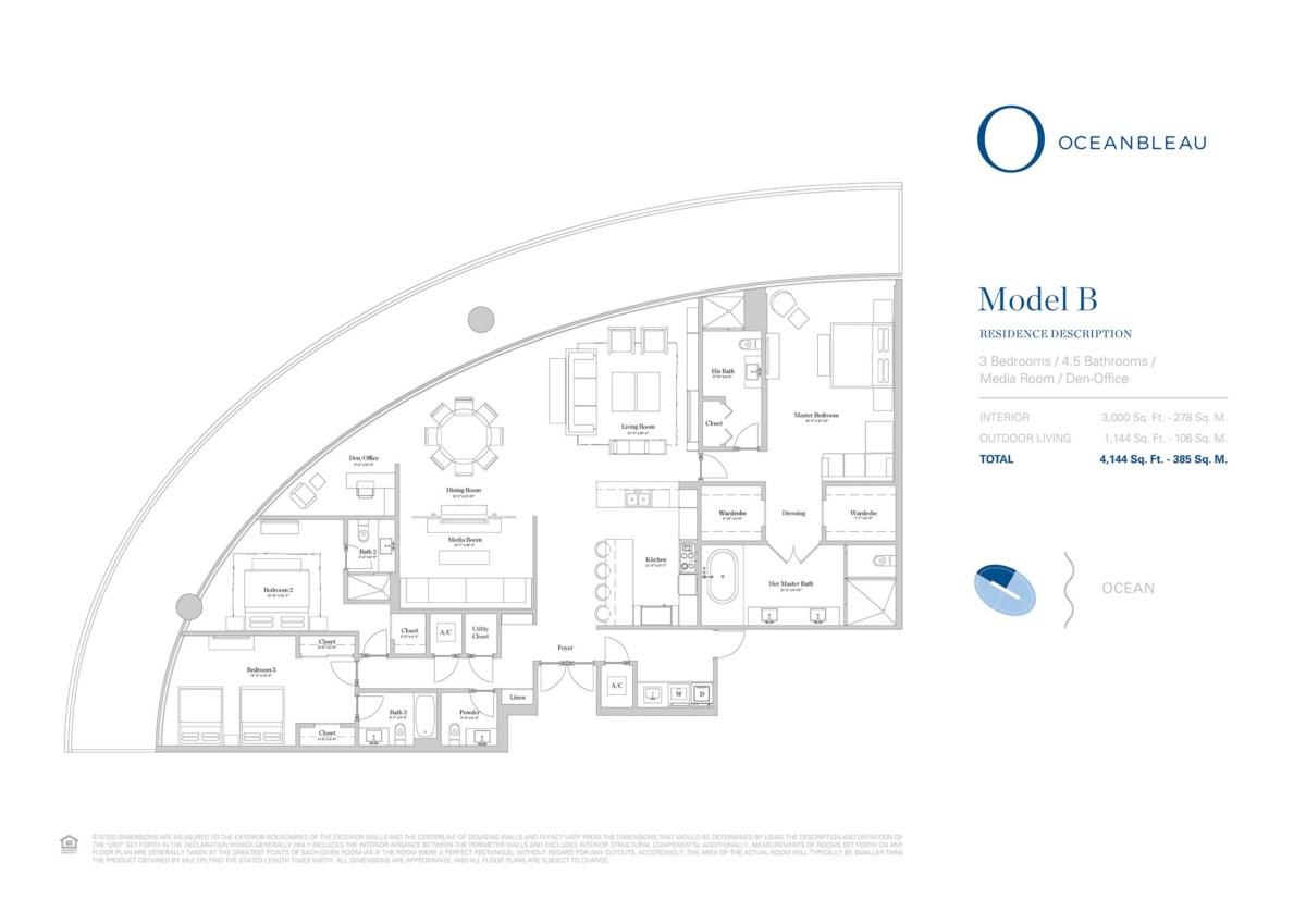 Oceanbleau - Floorplan 3