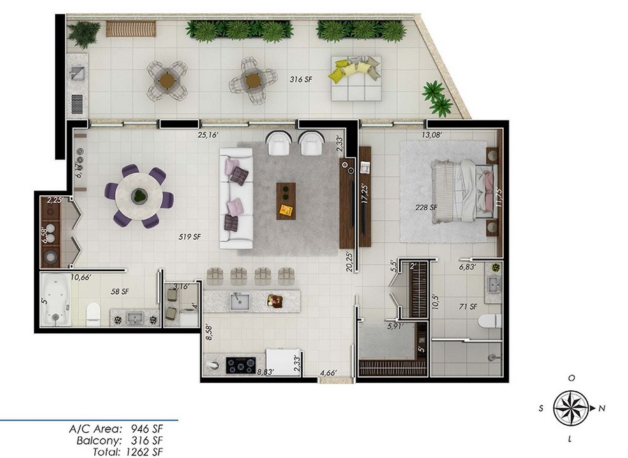 One by Tross - Floorplan 2