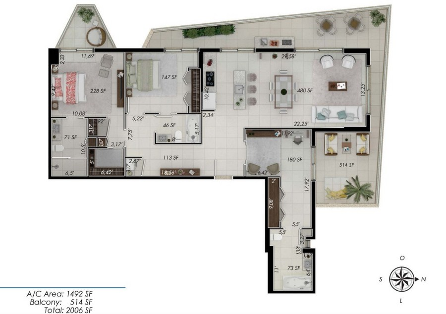 One by Tross - Floorplan 6