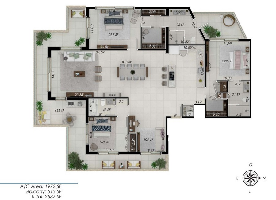 One by Tross - Floorplan 7