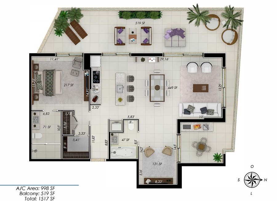 One by Tross - Floorplan 3