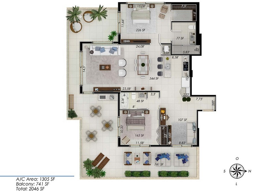 One by Tross - Floorplan 1