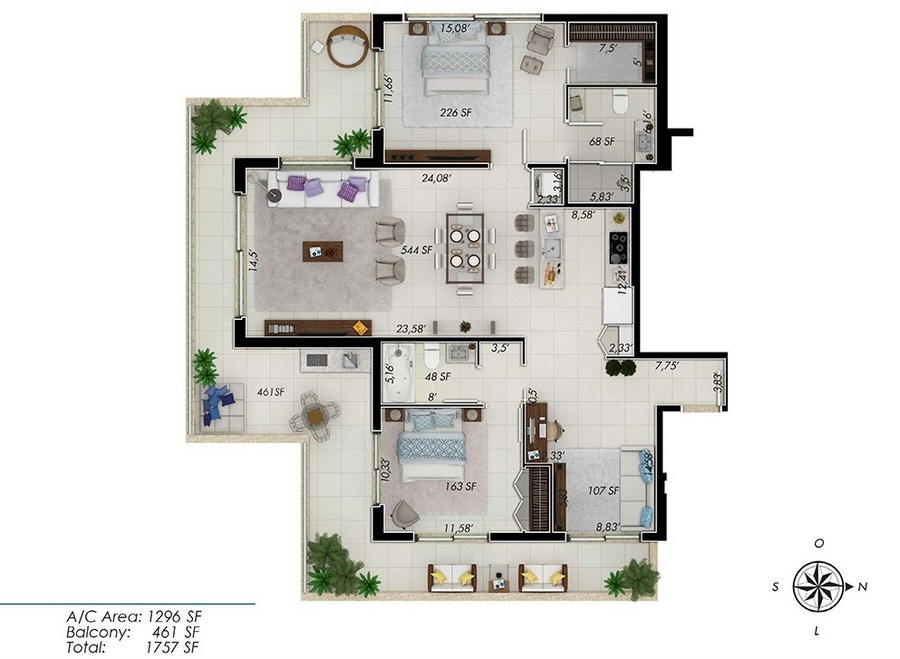 One by Tross - Floorplan 4