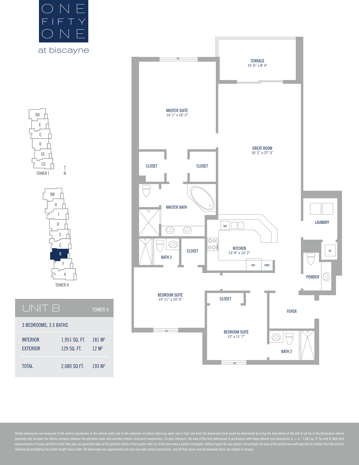 One Fifty One At Biscayne - Floorplan 1