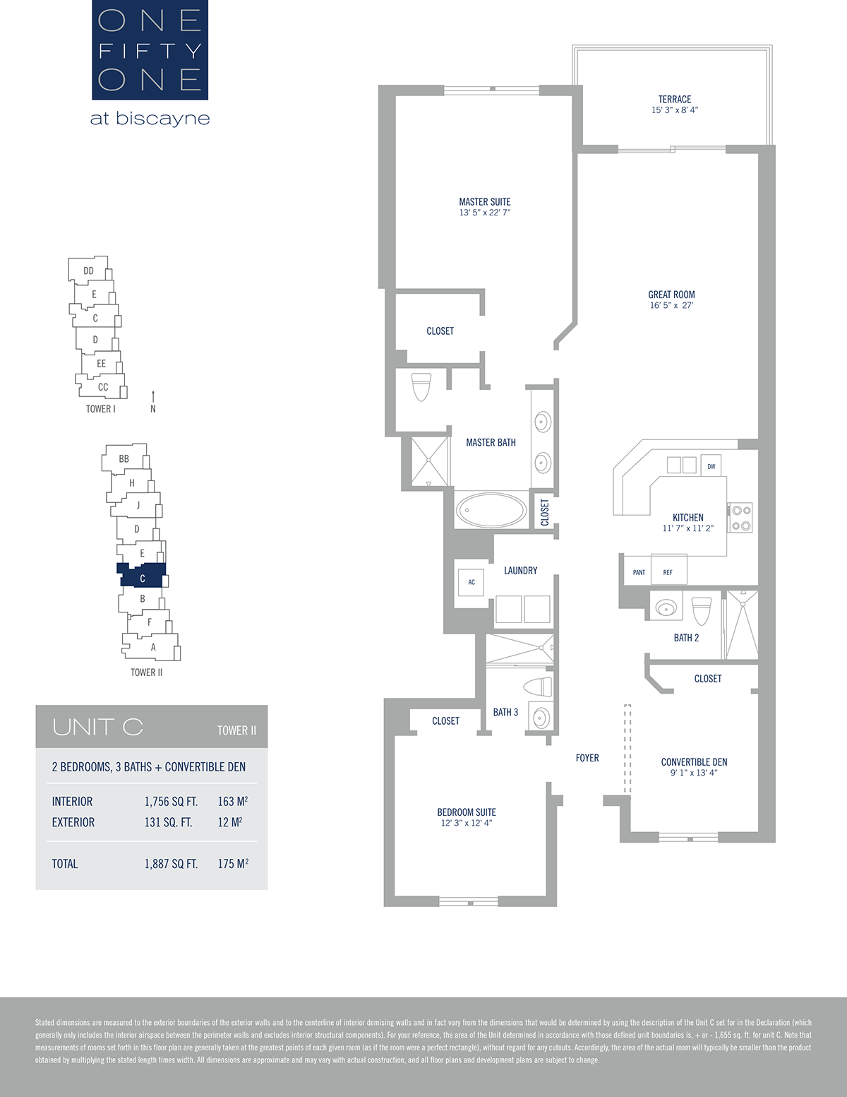 One Fifty One At Biscayne - Floorplan 3