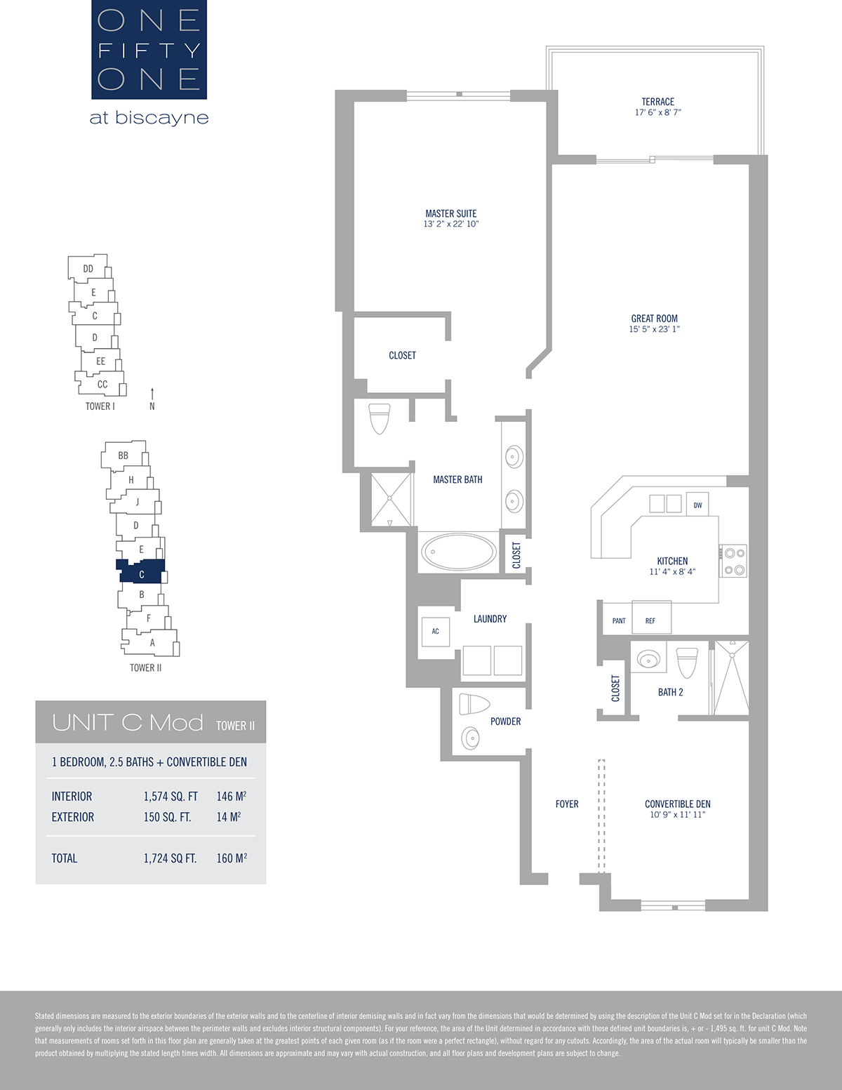 One Fifty One At Biscayne - Floorplan 4