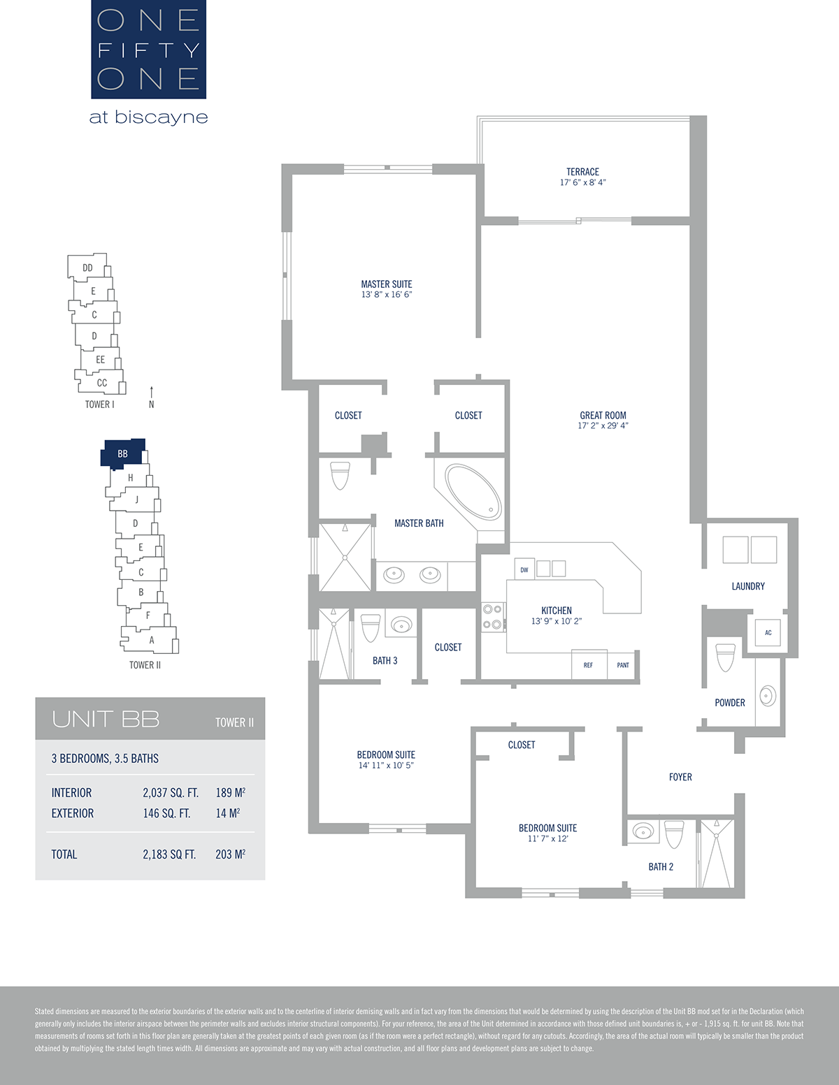One Fifty One At Biscayne - Floorplan 6