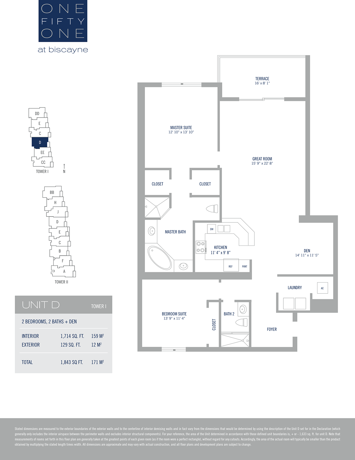 One Fifty One At Biscayne - Floorplan 13