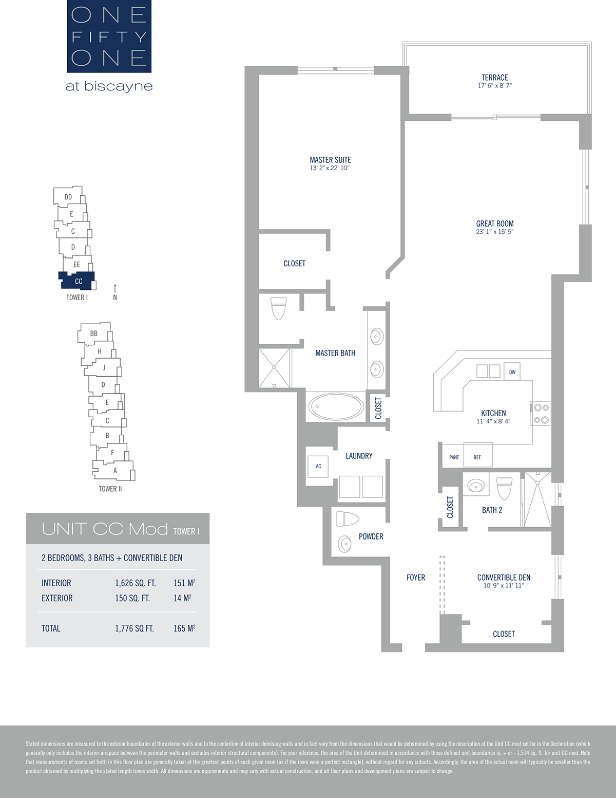 One Fifty One At Biscayne - Floorplan 14