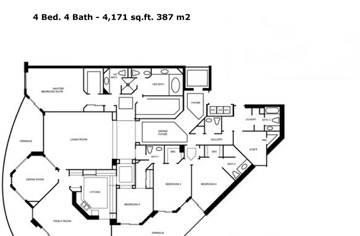 One Island Place - Floorplan 4
