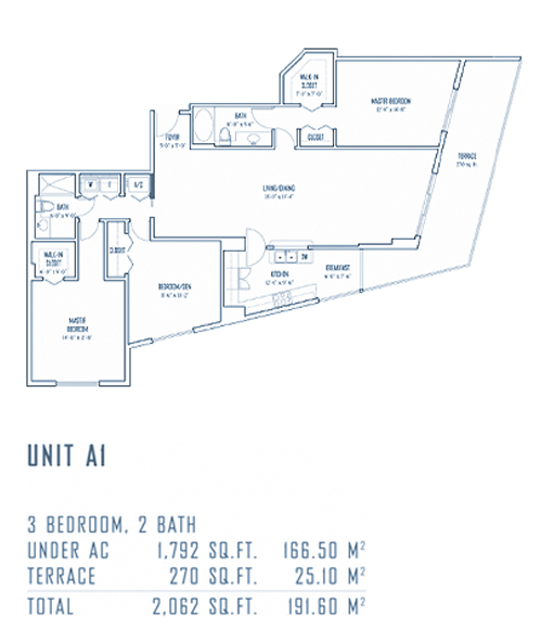 One Miami - Floorplan 13