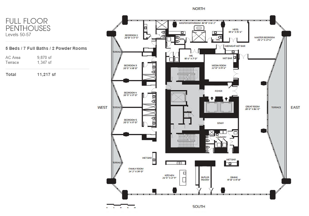 One Thousand Museum - Floorplan 3