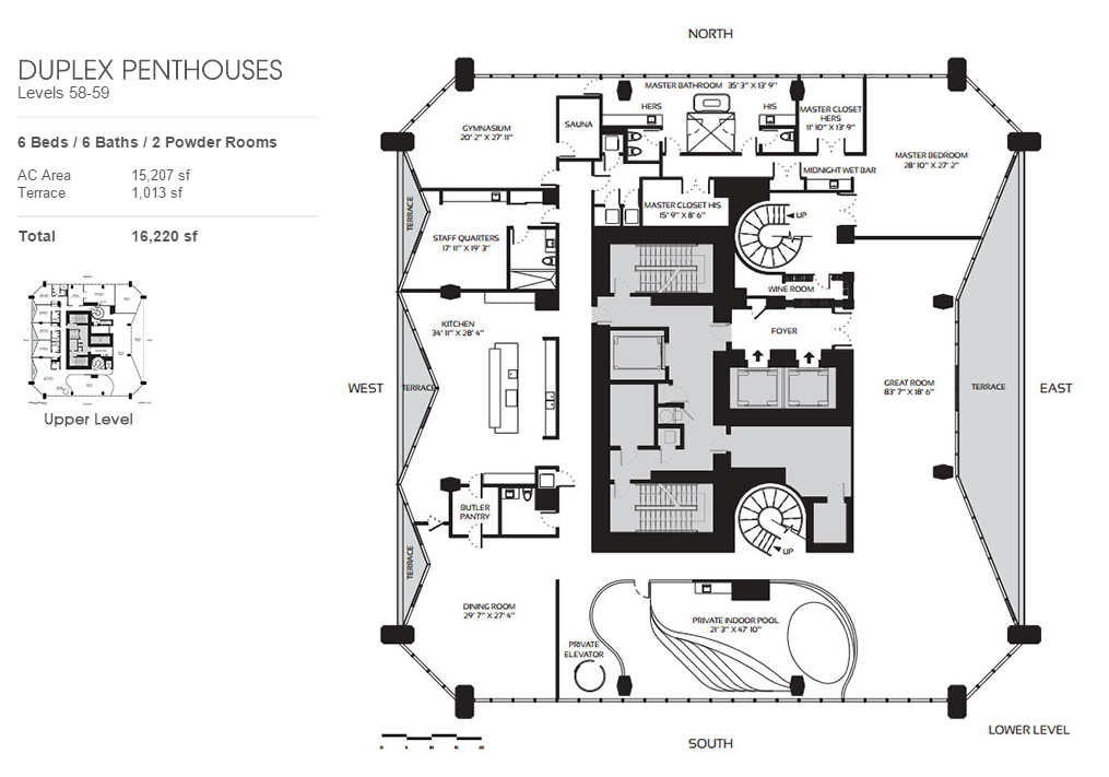 One Thousand Museum - Floorplan 4