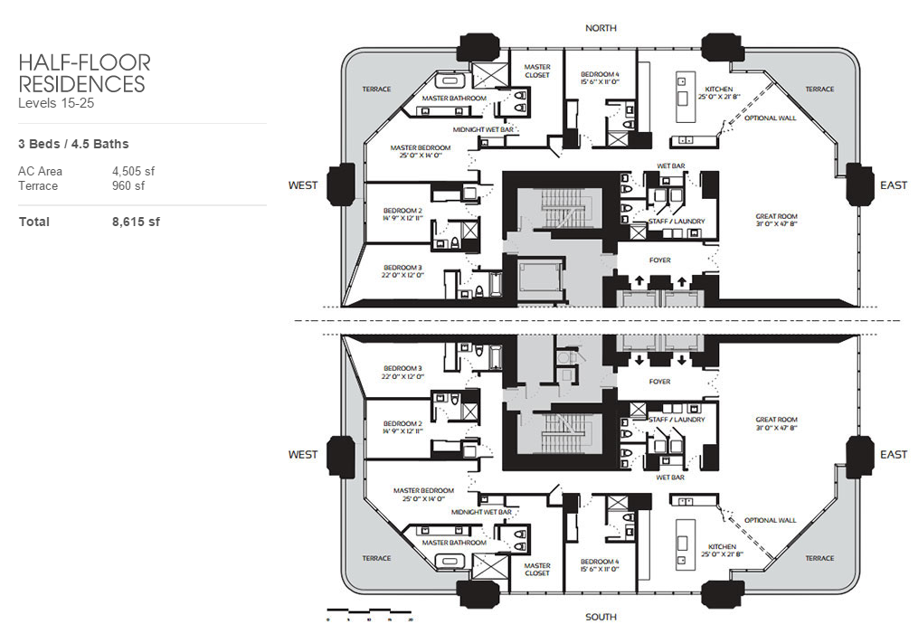 One Thousand Museum - Floorplan 5
