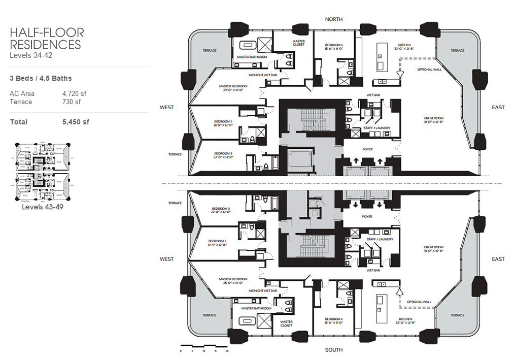 One Thousand Museum - Floorplan 6