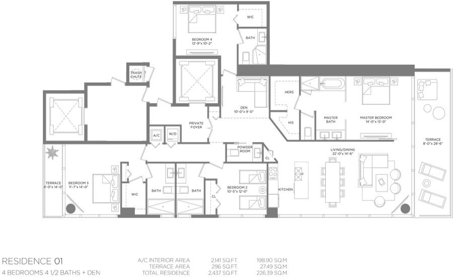 Paraiso Bay - Floorplan 3