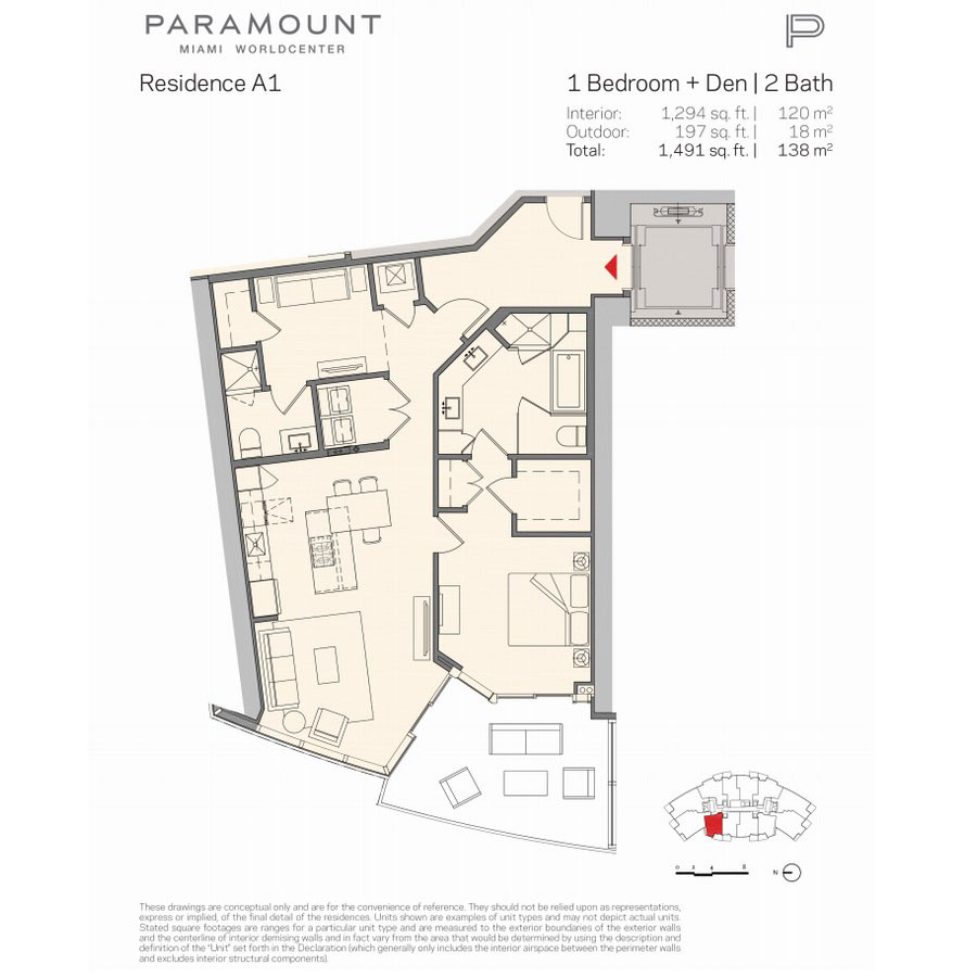 Paramount Miami Worldcenter - Floorplan 1