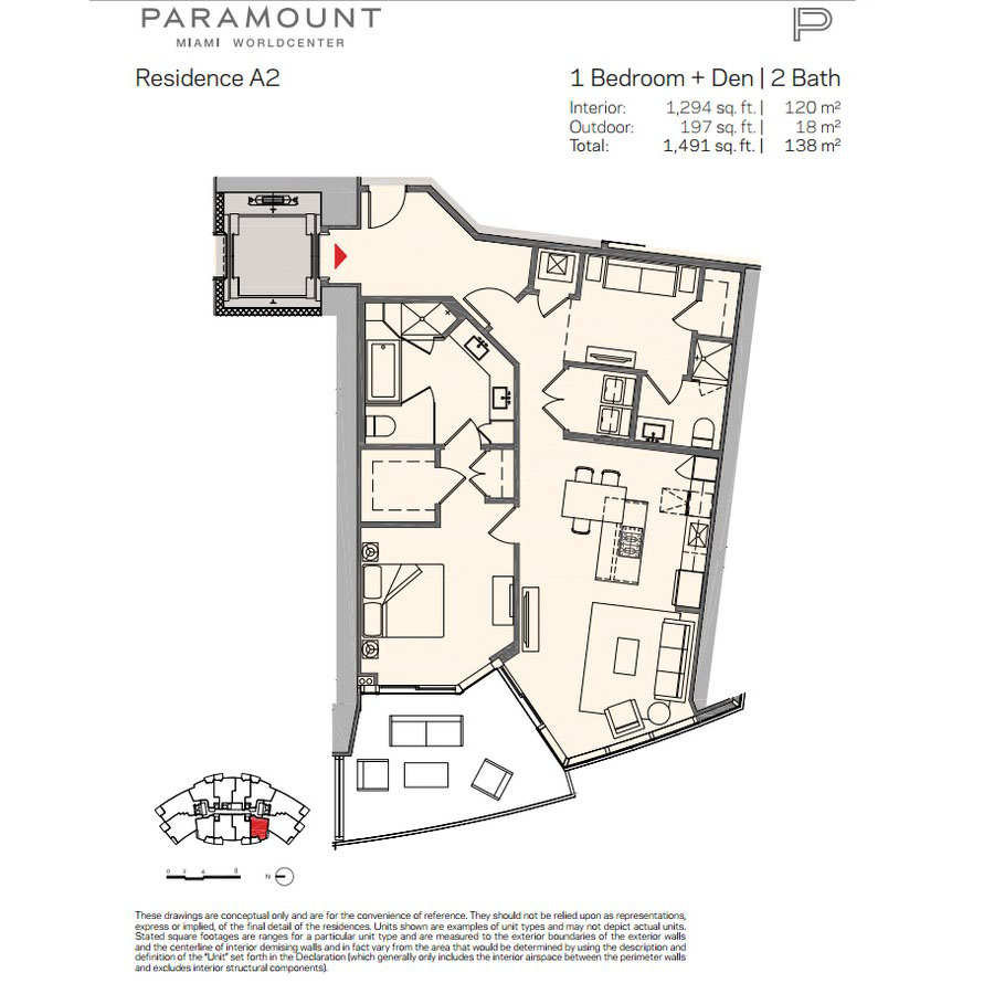 Paramount Miami Worldcenter - Floorplan 2