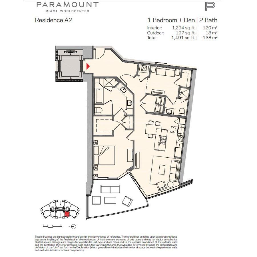 Paramount Miami Worldcenter - Floorplan 2