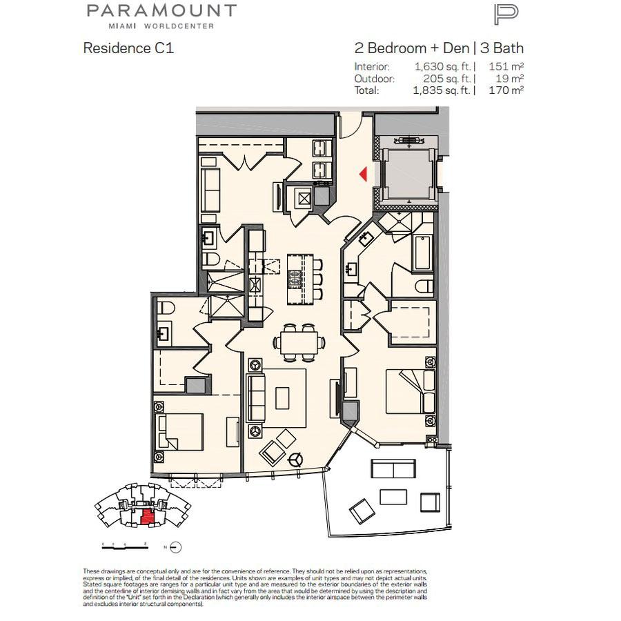 Paramount Miami Worldcenter - Floorplan 4