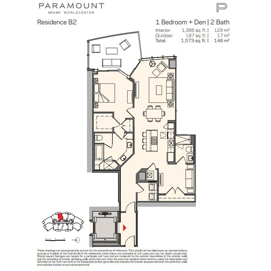 Paramount Miami Worldcenter - Floorplan 6