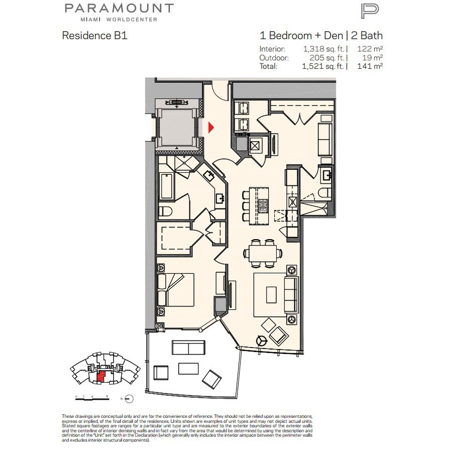 Paramount Miami Worldcenter - Floorplan 8