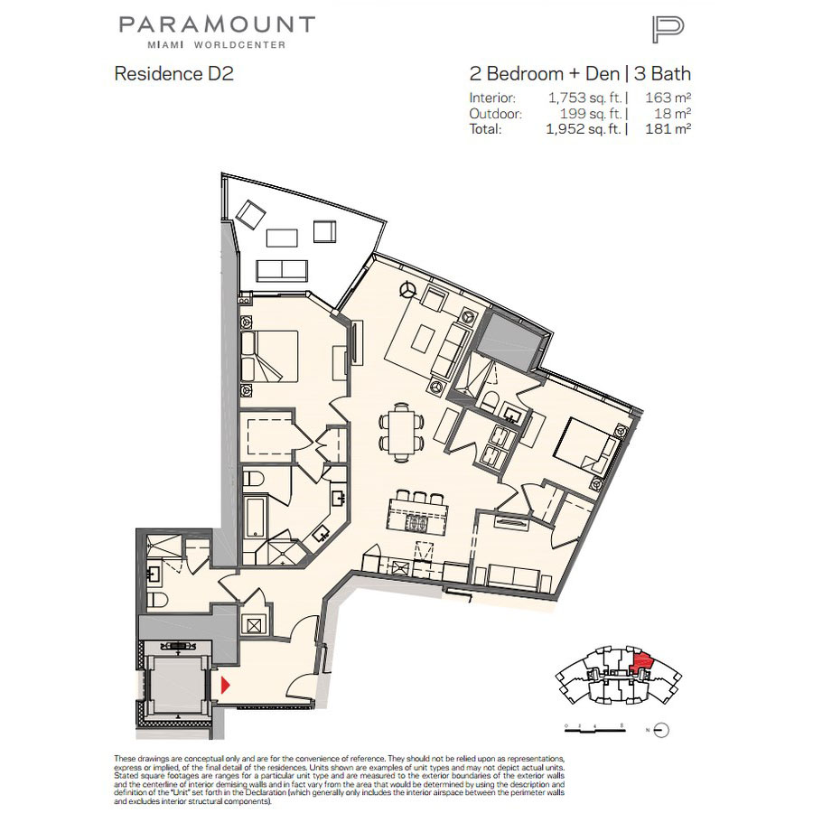 Paramount Miami Worldcenter - Floorplan 9