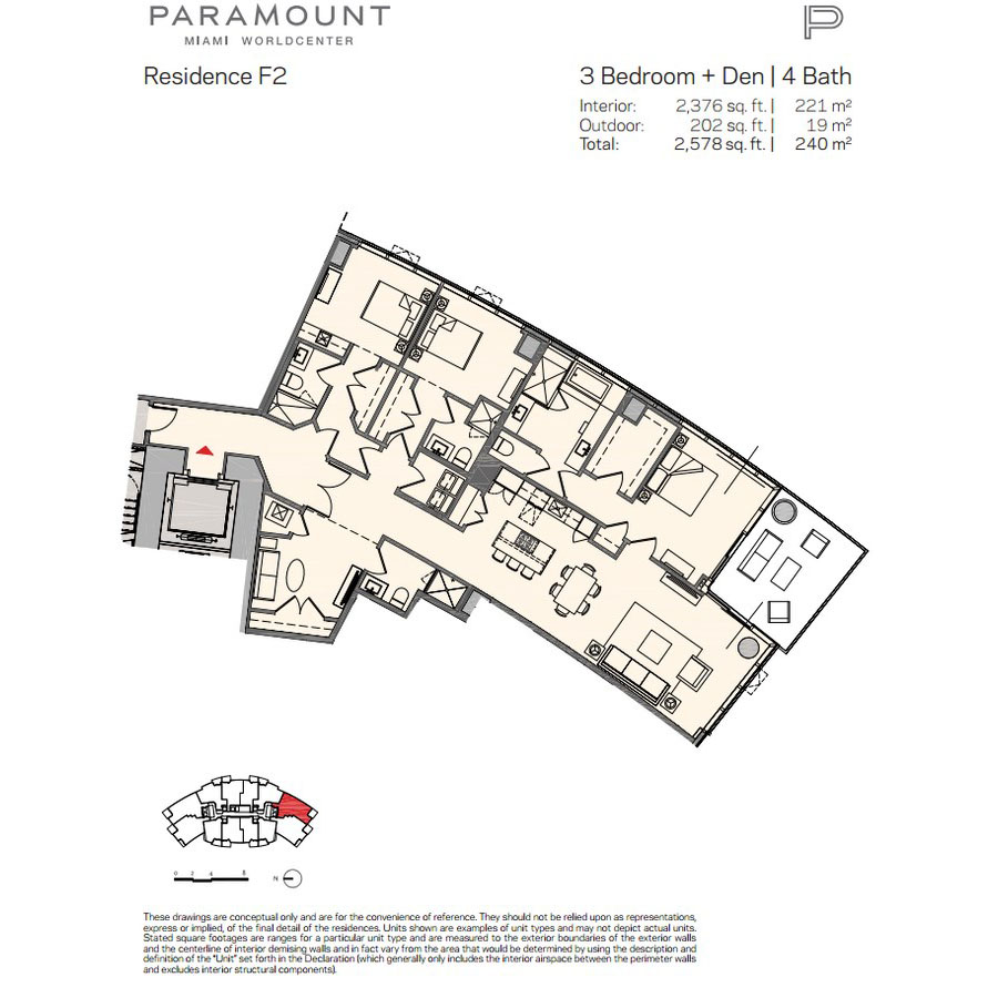 Paramount Miami Worldcenter - Floorplan 5